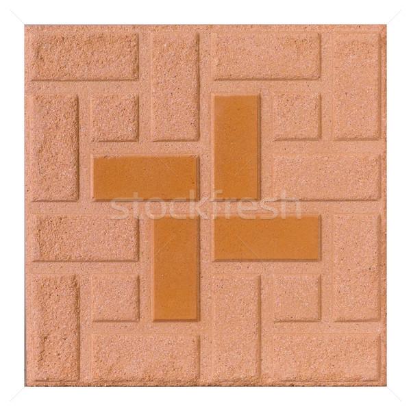 Brown rough floor tile isolated  Stock photo © JohnKasawa