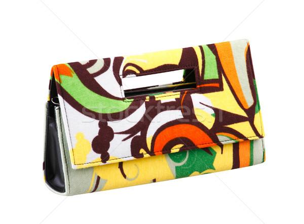 Colorful lady pattern wallet isolates Stock photo © JohnKasawa