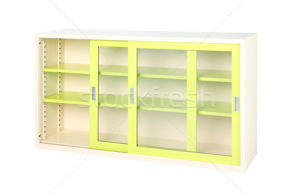 Transparent  glass doors steel furniture for accounting and fina Stock photo © JohnKasawa