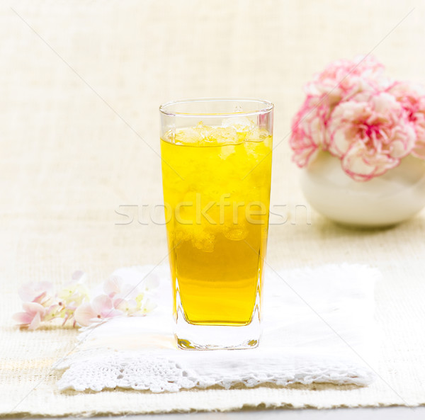 Chrysanthemum Thai herb juice drinks to relive thirsty Stock photo © JohnKasawa