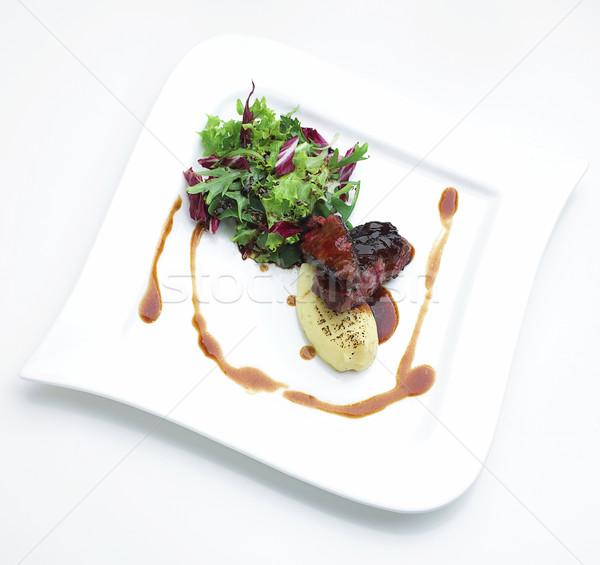 Bifsztek nagyszerű ízlés európai étel vacsora Stock fotó © JohnKasawa