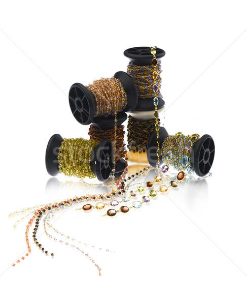 Colorful rolls of beads and jewelry  Stock photo © JohnKasawa