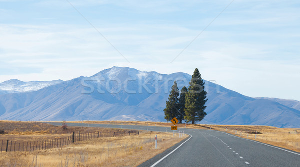 Road to Tekapo lake Tekapo town Southern Alps mountain valleys N Stock photo © JohnKasawa