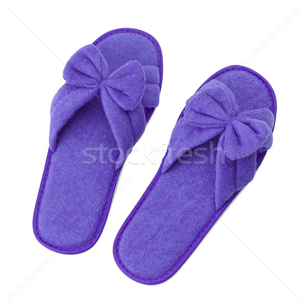 Soft beautiful slipper isolated  Stock photo © JohnKasawa