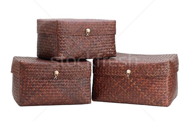 Nice bamboo boxes for keeping your belonging Stock photo © JohnKasawa