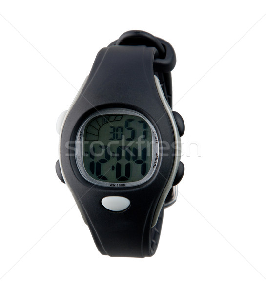 Modern design of the digital panel wristwatch Stock photo © JohnKasawa