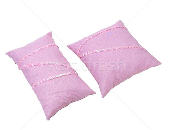 édes rózsaszín párnák hálószoba divat szoba Stock fotó © JohnKasawa
