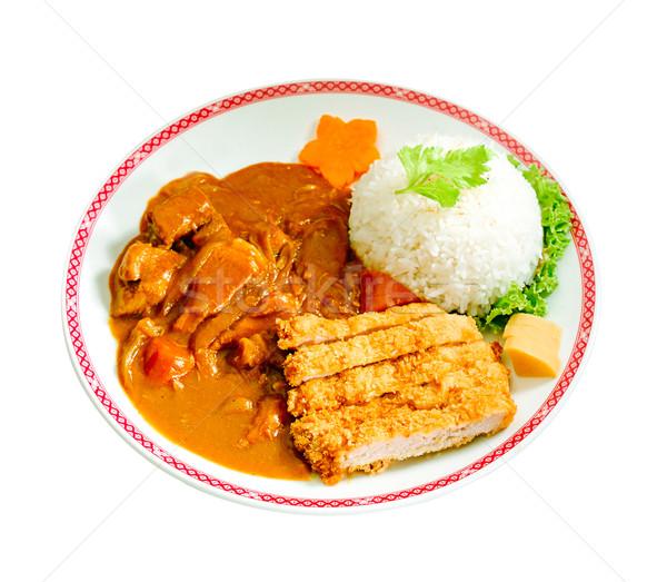 日本語 牛肉 カレー フライド 豚肉 コメ ストックフォト © JohnKasawa