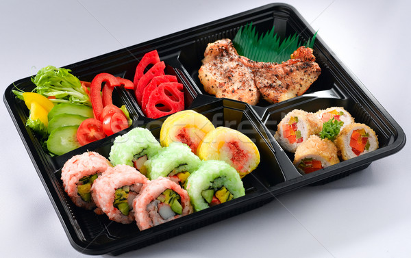 Utile japanese lunchbox completo pasto ingredienti Foto d'archivio © JohnKasawa