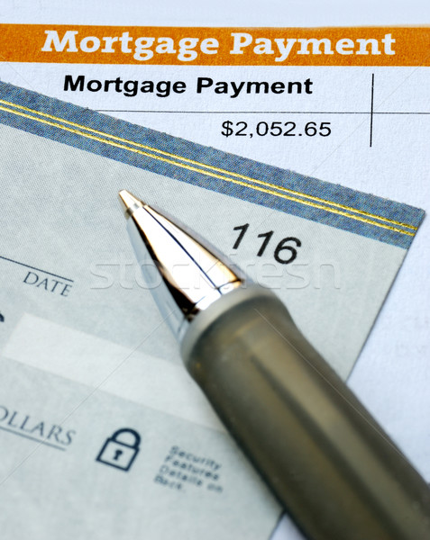 Paying the mortgage for the primary residence Stock photo © johnkwan