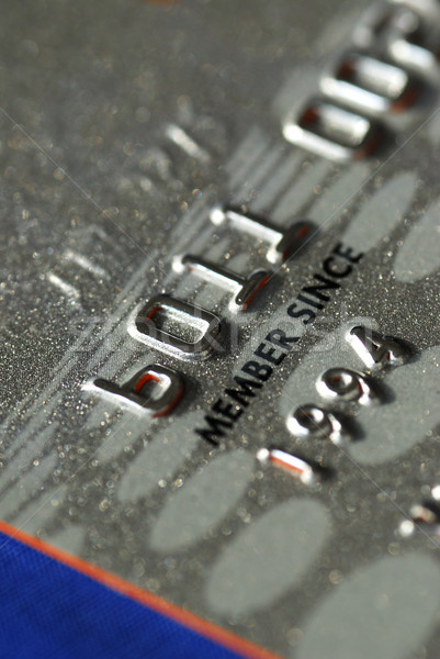 Stock photo: Close up view of a credit card
