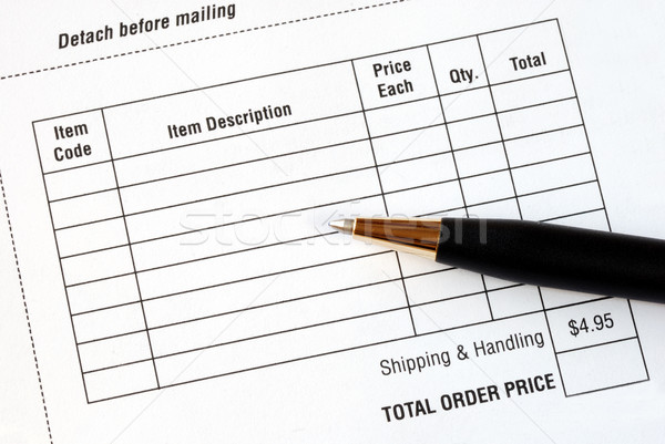 Stock photo: Fill in the purchase items in an order form