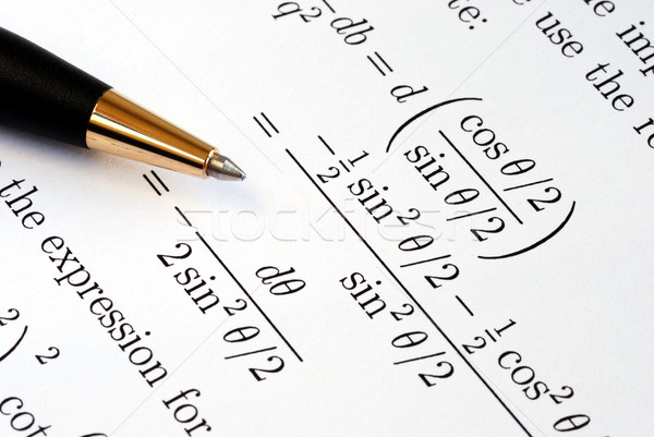Try to solve some complicated mathematics questions Stock photo © johnkwan