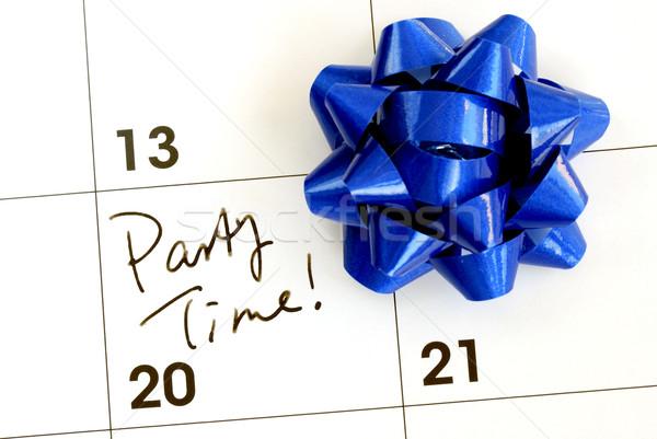 Tempo de festa calendário negócio festa azul Foto stock © johnkwan