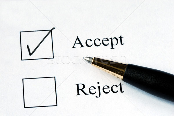 Select the Accept option with a pen Stock photo © johnkwan