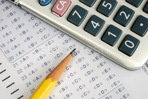 Fill the computer grade sheet in a Math exam Stock photo © johnkwan