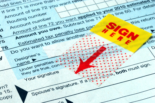 Do not forget to sign the income tax return  Stock photo © johnkwan