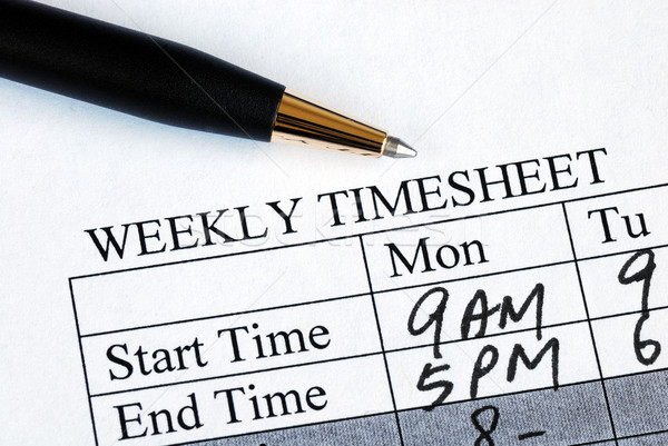 Enter the weekly time sheet concepts of work hours reporting Stock photo © johnkwan