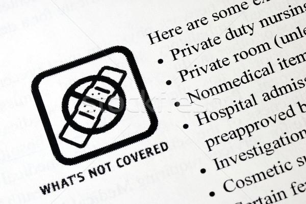 Wat niet zorgverzekering medische verpleegkundige werknemer Stockfoto © johnkwan