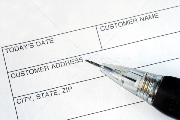 Complete the name and address for the customer Stock photo © johnkwan