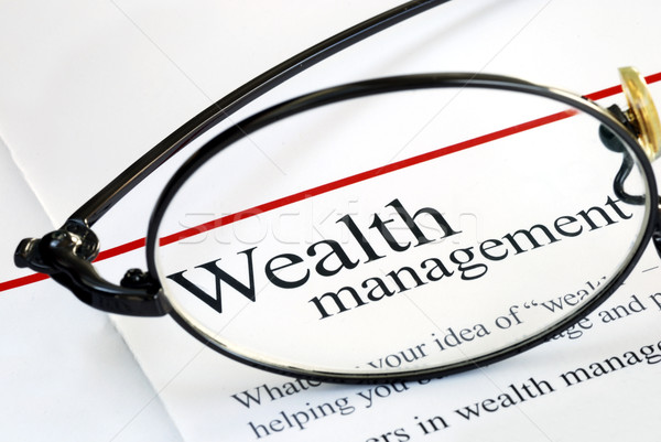 Focus on wealth management and money investing Stock photo © johnkwan