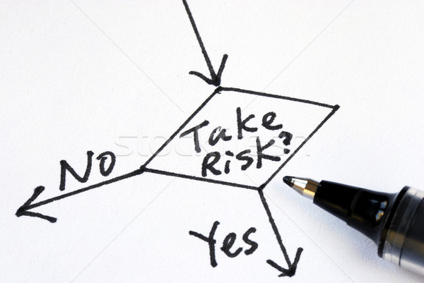 Stock photo: Determine whether to take the risk or not