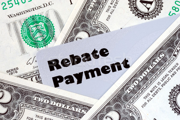 Obtain the rebate payment from a purchase Stock photo © johnkwan