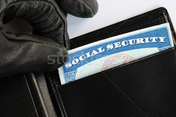 Social Security theft concept of identity theft Stock photo © johnkwan