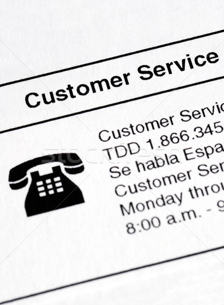 Detailed information about contacting the Customer Service Stock photo © johnkwan