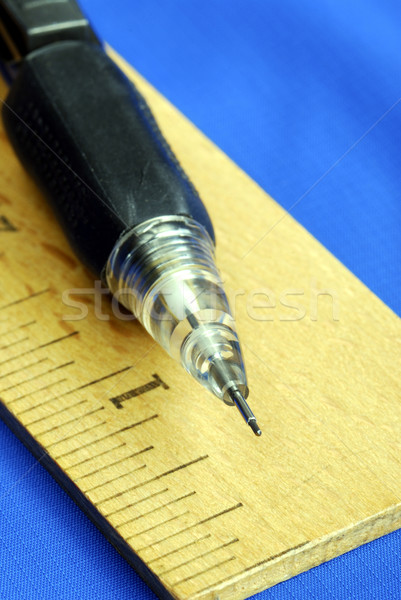 Ruler and pencil are tools for carpenters and architect  Stock photo © johnkwan