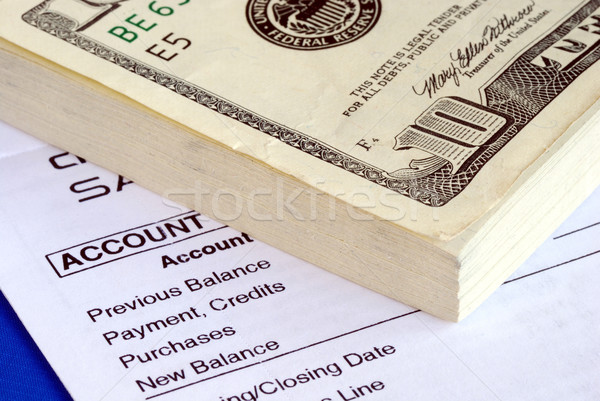 большой кредитных карт законопроект болезненный Финансы Сток-фото © johnkwan