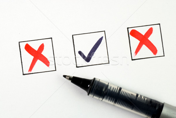 Stock photo: Put the check mark/tick in a box