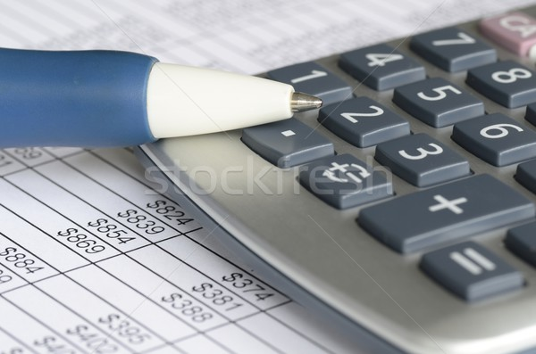 Analyzing financial data concept of accounting and auditing Stock photo © johnkwan