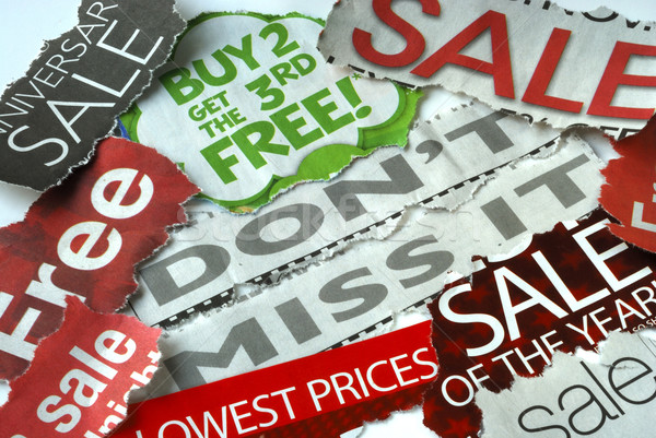 Don't miss the on sale and free deals Stock photo © johnkwan