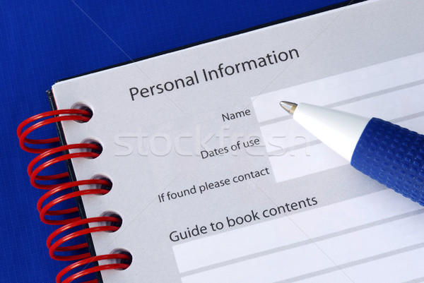 Fill in the personal information in the packet book Stock photo © johnkwan