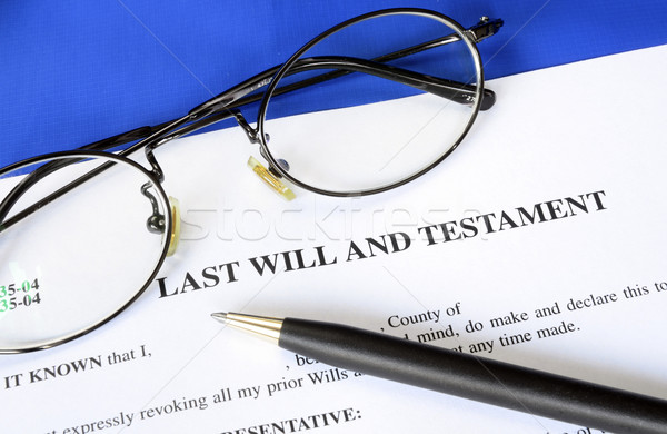Last Will and Testament concept of estate planning Stock photo © johnkwan