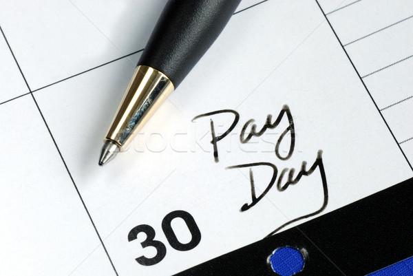 Ma illetmény nap hónap naptár pénzügy Stock fotó © johnkwan