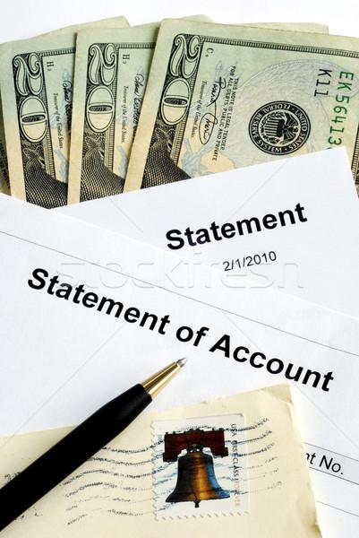 Geld salaris business papierwerk dollar Stockfoto © johnkwan