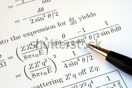 étude avancé niveau financière mathématique formule Photo stock © johnkwan