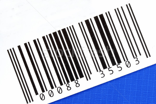 Bar code of the product isolated on blue Stock photo © johnkwan