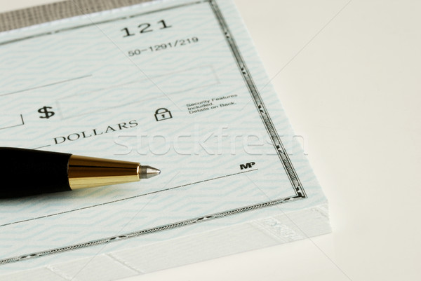 Write the dollar amount on the check Stock photo © johnkwan