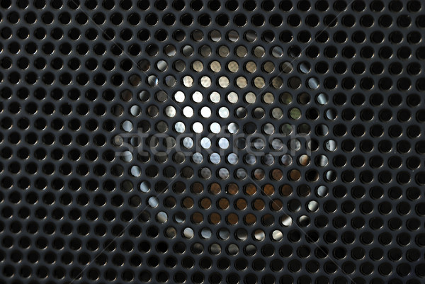 Stock photo: Close up view of the speaker from a radio