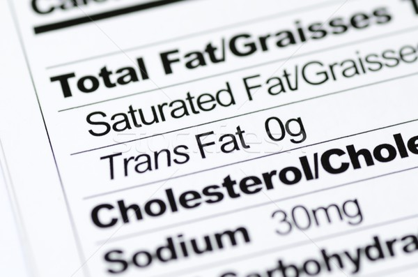 Nutrition label focused on Trans Fat content concept healthy eating Stock photo © johnkwan