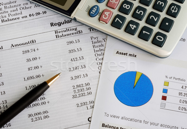 Check the monthly account statement and balance the portfolio Stock photo © johnkwan