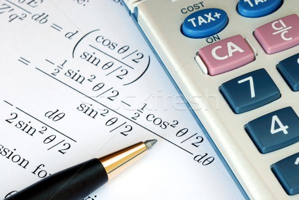 Risolvere matematica questione mutui istruzione studio Foto d'archivio © johnkwan