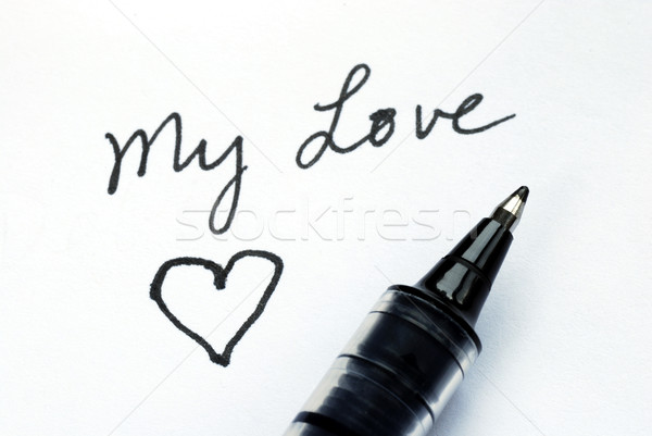 Foto d'archivio: Scrivere · amore · uno · giorno · cuore
