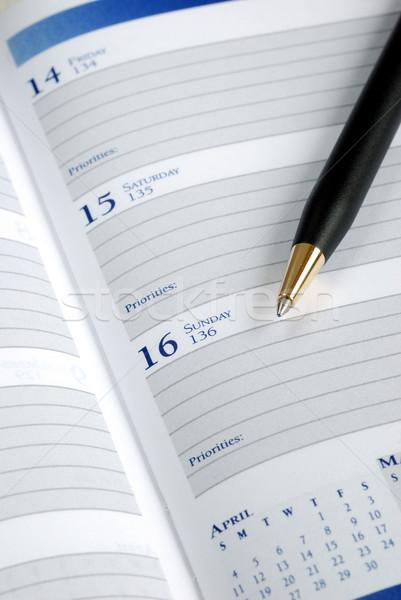 Schrijven beneden afspraak dag ontwerper papier Stockfoto © johnkwan