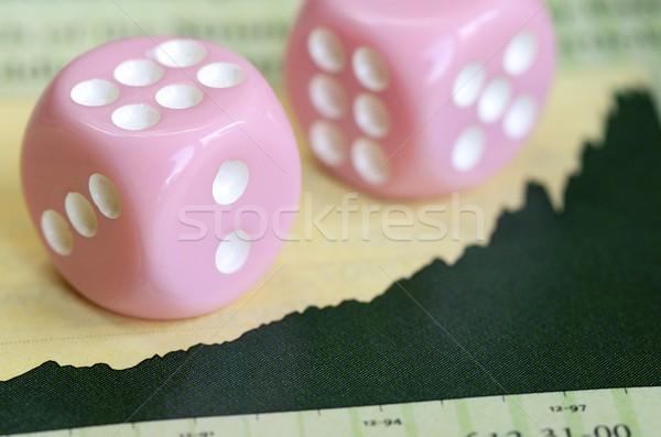 Deux bourse graphique investissement Finance affaires Photo stock © johnkwan