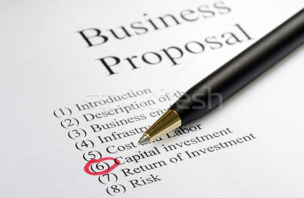 Focus on the main topics of a business proposal Stock photo © johnkwan