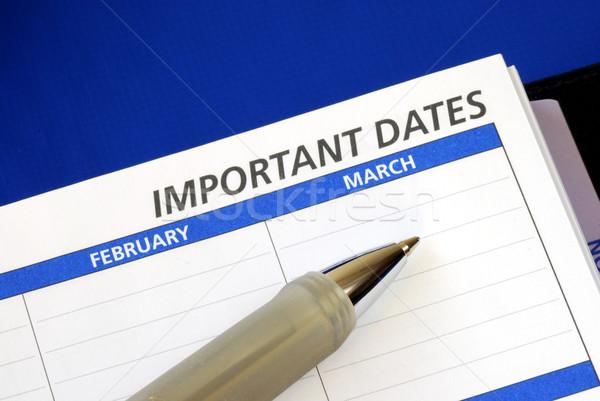 Сток-фото: написать · вниз · важный · даты · ноутбук · календаря